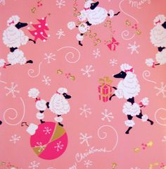 Christmas Poodles on Pink