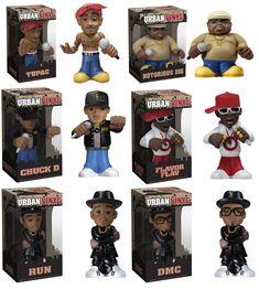 Hip-Hop Urban Vinyl Figures by Funko – Tupac Shakur, Notorious B.I.G., Public Enemy (Chuck D & Flavor Flav) and Run DMC | BruteBeats, Your Visual Radio Hip-Hop Experience likes this! www.brutebeats.com
