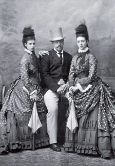 Tsar Alexander 111 with wife Maria and her sister future Queen of England Alexandra