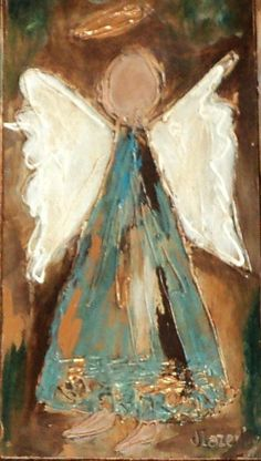 Angel notecards original angel painting cards custom acrylic print, acrylic painting print by JaneLazenbyartist on Etsy