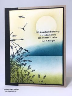 Stamp with Sandy: Uncharted Wetlands, Wetlands, Uncharted Territory Tarjetas Stampin Up, Stampin Up Karten, Wetlands Stampin Up, Beach Cards, Up Book, Stamping Up Cards, Watercolor Cards, Watercolor Tattoos, Watercolour