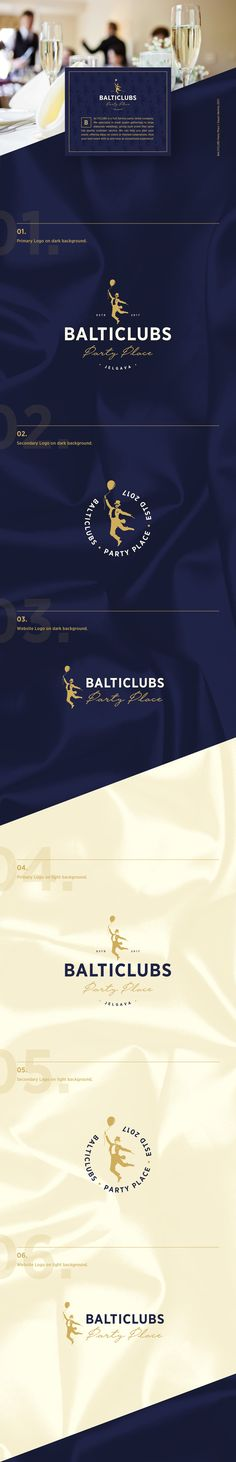BALTICLUBS Party Place   Visual Identity on Behance