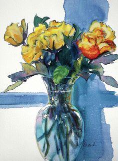 Roses In Vase Still Life I by Kathy Braud #stilllife #roses #wallart #homedecor fineartamerica.com Be Still, Still Life, Fine Art Prints, Framed Prints, Bedroom Art, Paintings For Sale, Artist At Work, Fine Art America, Original Artwork