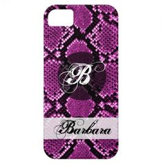 snake skin iPhone case with your name iPhone 5 Cases