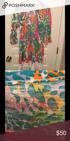 LP dress Great condition, worn twice! Super cute as a coverup or a dress Lilly Pulitzer Dresses