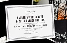 INVITATION SAMPLE Modern Black and White by SincerelyJackie