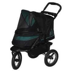 The green Pet Gear NV No-Zip Pet Stroller > Additional details found at the image link  : Dog strollers