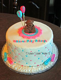 baby reveal cake by Diane's Sweet Treats - (Diane Burke), via Flickr