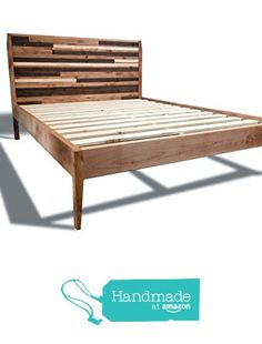 Modern Platform Bed Frame with Mosaic Paneled Headboard - Reclaimed Wood Style - Mid-Century Modern - Old-World from Pereida-Rice Woodworking https://www.amazon.com/dp/B01C9W2U22/ref=hnd_sw_r_pi_dp_BlKazbG5Y7H47 #handmadeatamazon