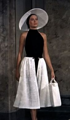 Grace Kelly in To Catch a Thief.  Isn't this an amazing summer outfit, just right for a stroll on a Monaco beach?