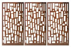 Entanglements Laser Cut Decorative Screen - 'Hanging Bricks'