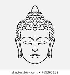 buddha tattoos outline ~ buddha outline tattoo & buddha outline tattoo beautiful & buddha tattoo small outline & outline of buddha tattoo & fat buddha tattoo outline & buddha outline drawing tattoos & buddha tattoos outline & buddha tattoo design outline Buddha Tattoo Design, Buddha Tattoos, Art Buddha, Buddha Kunst, Buddha Drawing, Buddha Head, Yoga Drawing, Yoga Symbols, Buddhist Symbols