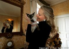 Princess Michael of Kent and her siamese cat Percy.