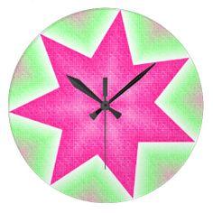 Sherbert Dots Round Wall Clock #zazzle #clock #pastel #pink #dots #green http://www.zazzle.com/zazzlewallclocks
