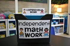 Differentiated Work....make a box, a file for each child, in it put the work they need, & in the back a completed work folder to be turned in - love it & can be adapted to any subject or grade level