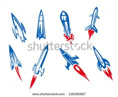 Rocket Stock Vectors & Vector Clip Art | Shutterstock