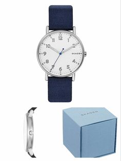 This SKAGEN Signatur watch features a sandblast dial and three hand movement. Hours are marked by linear and dot indexes, with minutes indicated by dots and numeric markers at each hour station. #SKAGEN #KhaValeri http://www.pinterest.com/KhaValeri/ kha_amz_SKAsigtur0107_v14