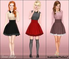 Anubis - Sims Stuff: Serene Breeze ~ Collared Dress for Teens-to-Adult