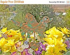 Golden Retriever Garden Stake - Metal Yard Art - Pet Memorial - Garden Art – Dog Angel - Garden Copper Art - Grave Marker - Patina
