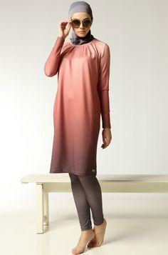 Muslim Swimwear - Swimsuits For Women by Mayovera Design Muslim Fashion, Modest Fashion, Hijab Fashion, Fashion Outfits, Trendy Swimwear, Plus Size Swimwear, Swimwear Fashion, Islamic Swimwear, Muslim Swimwear