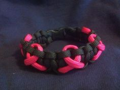 Breast Cancer Awareness Paracord Bracelet. Fundraising idea for Relay for Life