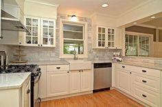 farm-sink-ikea-Kitchen-Midcentury-with-black-kitchen-cabinets-farm ...