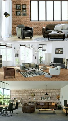 Décoration industrielle, inspiration tendance Multipurpose Room, A Frame House, Style Deco, Home Decor Styles, Room Inspiration, Living Room Decor, Sweet Home, New Homes, Interior Design