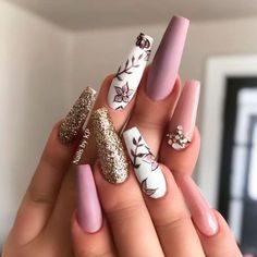Get Inspired By This Easter Nails With Pastel Colors - # - Shapes lovenails Summer Acrylic Nails, Best Acrylic Nails, Summer Nails, Perfect Nails, Gorgeous Nails, Hair And Nails, My Nails, Nagel Hacks, Fire Nails