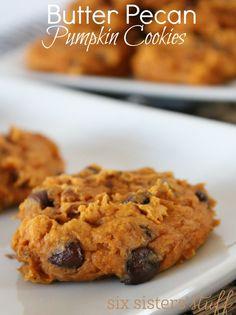 Butter Pecan Pumpkin Cookies