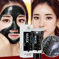 60g Blackhead Remover Deep Cleansing Purifying Peel Off Acne Black Mud Face Mask For Dropshipping CL2 #Affiliate