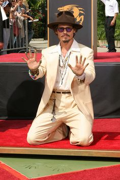 September 16, 2005 ~ Johnny Depp honored with a Hand and Footprint Ceremony at Graumann's Chinese Theatre ~ Walk of Fame in Hollywood, California
