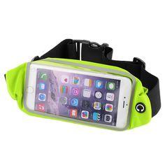 Waterproof Waist Travel Sport Running Belt Better than Cell Phone Sports Armband - fits iPhone 6 Plus