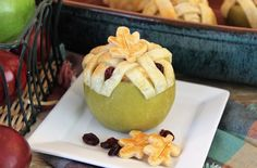 Cranberry Apple Pie Baked Apples | Challenge Dairy Apple Cranberry Pie, Cranberry Recipes, Apple Pie, Holiday Recipes, Recipe Using Apples, Delicious Desserts, Yummy Food, No Bake Pies, Baked Apples