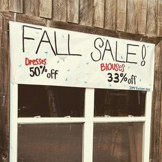 Fall Spectacular Sale!!! Dresses— 50%Off Blouses— 33%Off (some exclusions apply) #gottohave #sale #love #comesee #instagood #VintageDragonflyConsignmentBoutique ❤️🍁
