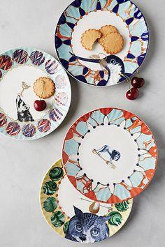 Quillen Dessert Plates - anthropologie.com