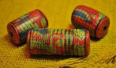 Burlap Mokume Gane beads | These beads are Ultralight inside… | Flickr - Photo Sharing!