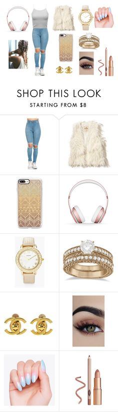 """parck"" by alexa78-1 on Polyvore featuring Hollister Co., Casetify, Beats by Dr. Dre, Chico's, Allurez and Chanel"