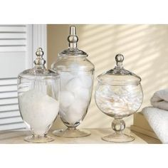 Apothecary Jars for the bathroom.