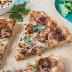 This copycat of California Pizza Kitchen's Thai Chicken Pizza will be a hit with lovers of sweet and spicy food. Chicken is coated in a spicy peanut sauce. Thai Chicken Pizza, How To Cook Chicken, Jerk Chicken, Sweet And Spicy Sauce, Spicy Peanut Sauce, California Pizza Kitchen, Spicy Recipes, Pizza Recipes, Gourmet Cooking