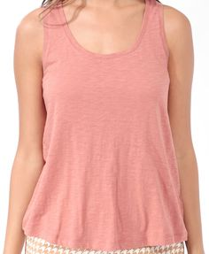Essential Shirred A-Line Tank | FOREVER21 - 2025100536
