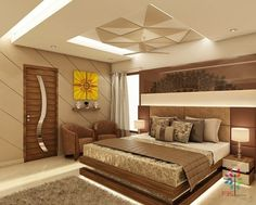 Stunning master bedroom design with simple and elegant cnc for Faux plafond chambre garcon