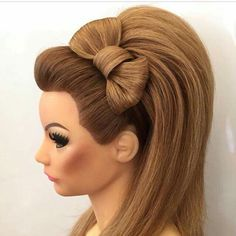 Hair Bow updo Great for a party with a little black dress and heels Fancy Hairstyles, Creative Hairstyles, Wedding Hairstyles, Everyday Hairstyles, Gorgeous Hair, Beautiful, Competition Hair, Hair Up Styles, Hair Shows