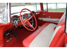 1956 Chevy Bel Air interior 1955 Chevrolet, Chevrolet Bel Air, 1956 Chevy Bel Air, S Spa, Dashboards, Buick, Scale Models, Cadillac, Cool Cars