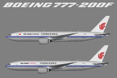 Air China, Cargo Airlines, Boeing 777, Supply Chain, Aviation, Aircraft, Painting, Planes