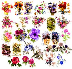 25pcs Self-made Beautiful Flower Scrapbooking Stickers Nice Floral Decorative Sticker DIY Craft Photo Albums Decals Diary Deco