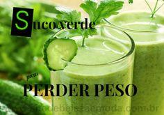 Aprenda fazer 4 deliciosas receitas do suco verde para perder peso com saúde, turbinadas com poderes antioxidante, diurético, desintoxicante e energizante.