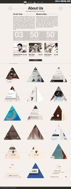Beautiful web page. Excellent usage of triangle shapes.  Rally Interactive.