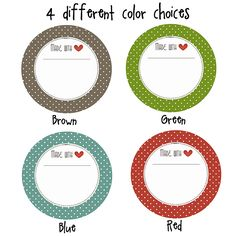 Can download red or green separate for top of jar recipe. Neighbor Gift   Jar Label Printable.