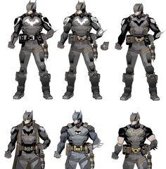 Comic Book Artists, Comic Book Characters, Comic Books Art, Batman Armor, Im Batman, Future Batman, Gotham, Batman Concept Art, Family Sculpture