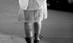 aaaaah....leather boots and lace....
